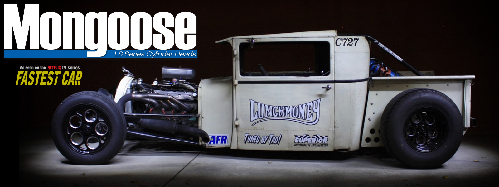 Corey Caouette - Lunch Money Garage with AFR LS1 Mongoose Heads