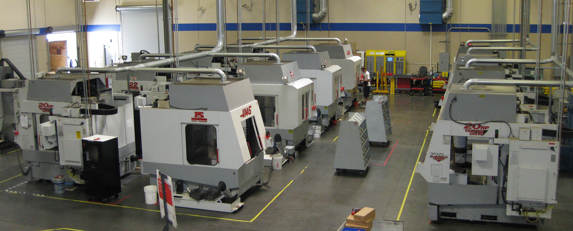 AFR's 30,000 square foot facility with over 15 5-axis CNC Machines.